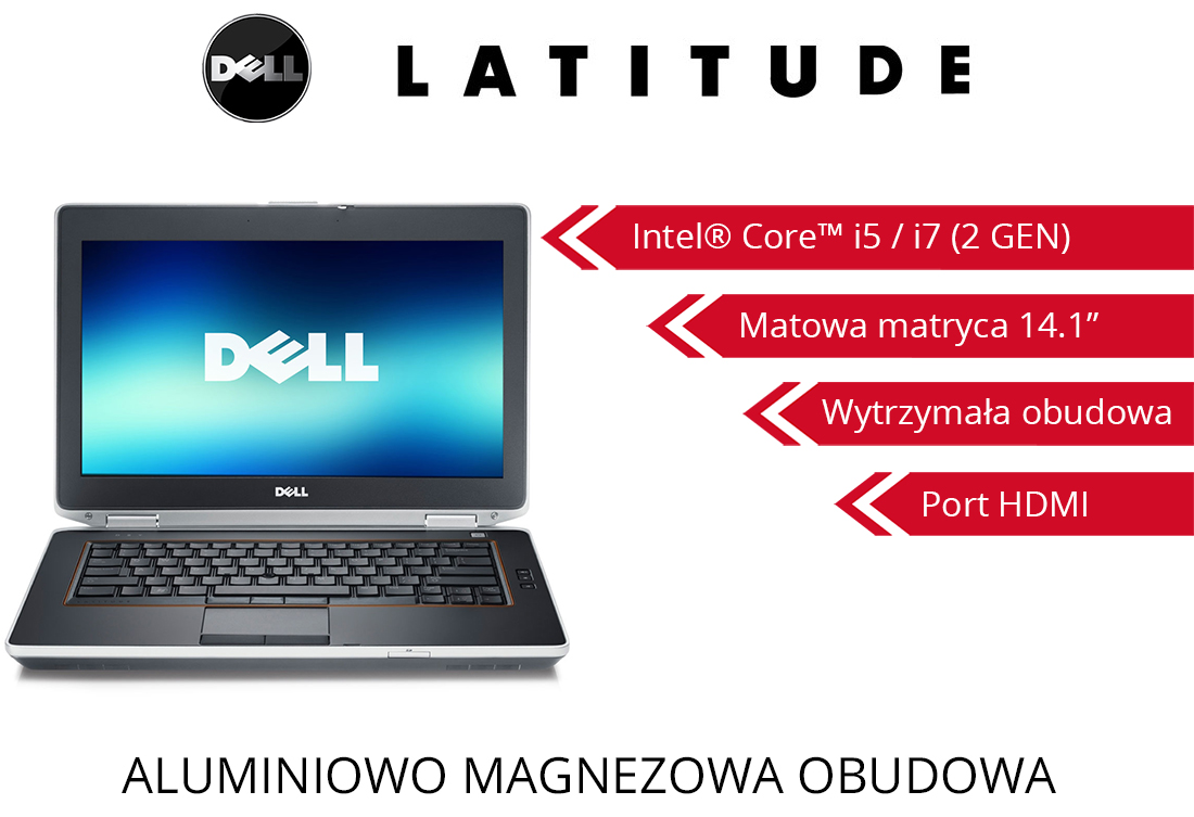 Dell Latitude E6420 14.1'' HD i5-2520M 4GB 250GB Windows 7 Professional HDMI