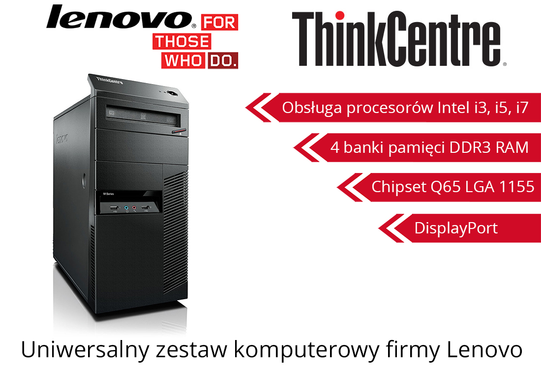 Komputer Lenovo M91p i5-2400 4GB 250GB Windows7 Professional