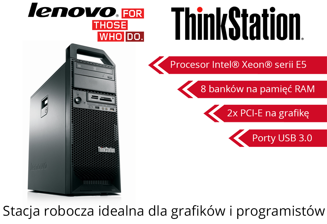 Lenovo ThinkStation S30 Xeon E5-2643 16GB 300GB SAS + 500GB Quadro 600 Windows 7 Professional